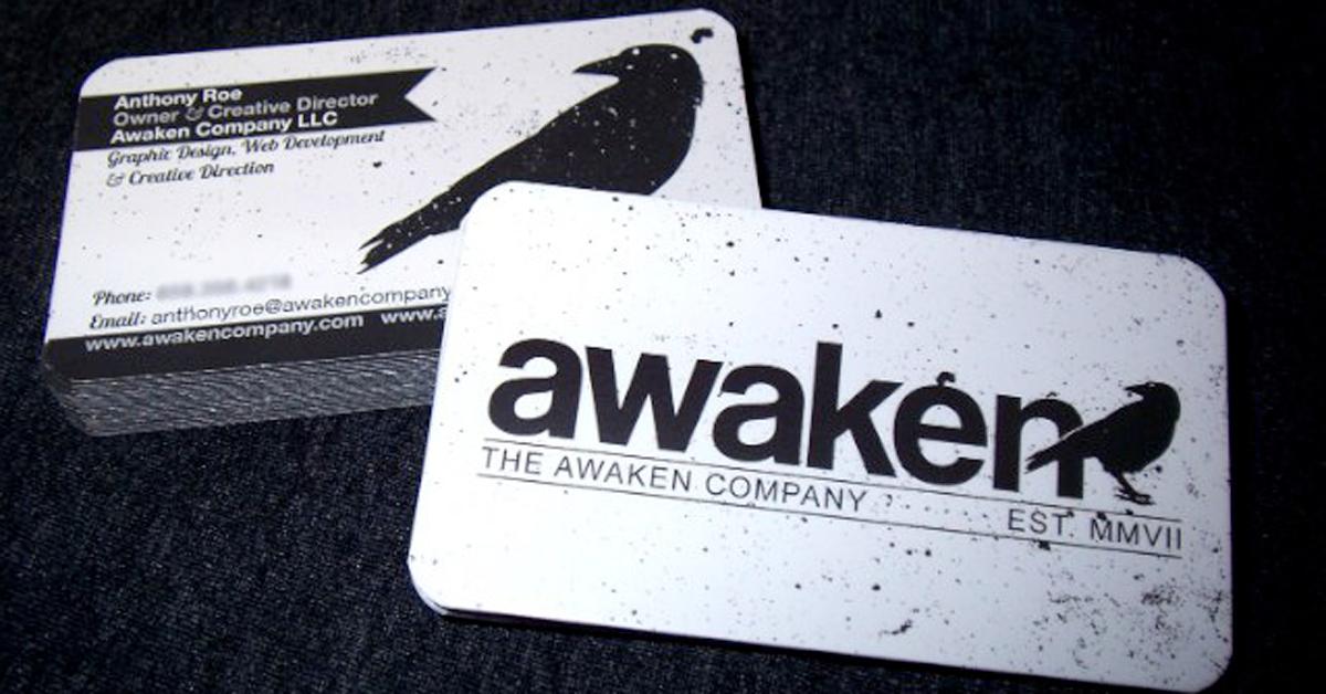 Kreatív névjegykártya minta