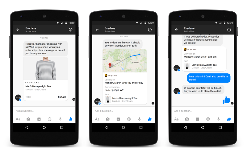 Facebook Business on Messenger