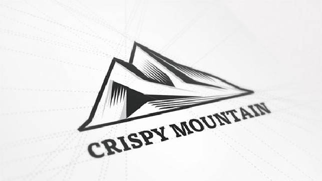 Crispy Mountain logó design