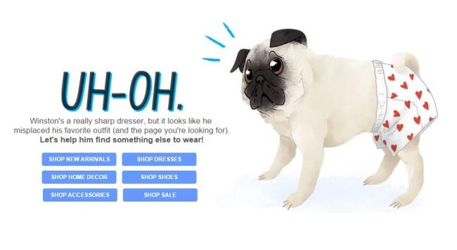 ModCloth 404 oldal