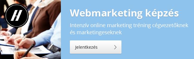 Webmarketing, honlapkészítés képzés banner