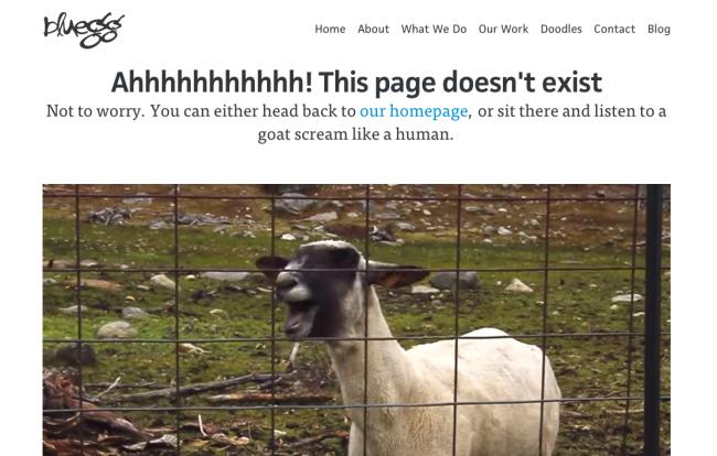 Blueegg 404 oldal