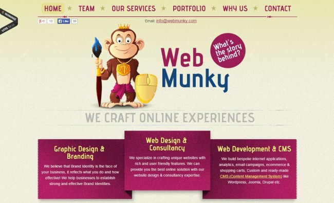 Élénk színek - Web Munky