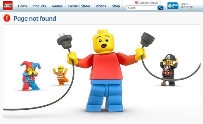 Lego 404 oldal