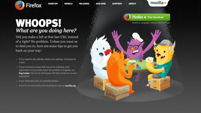 Mozilla 404 oldal