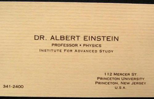 Hírességek névjegyei - Albert Einstein