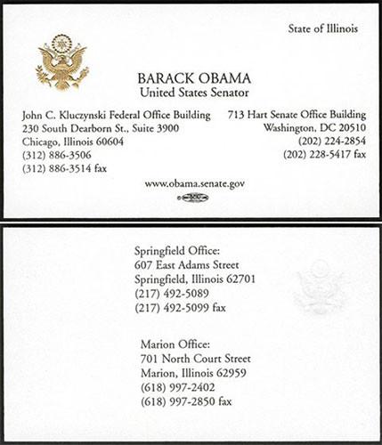 Hírességek névjegyei - Barack Obama