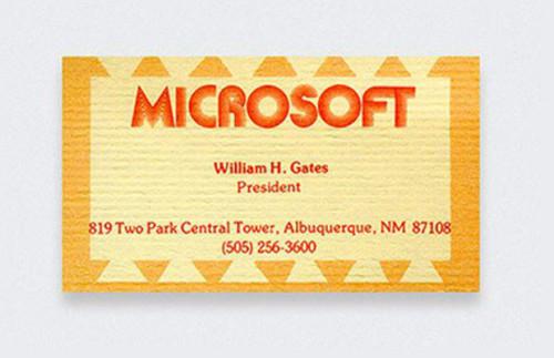 Hírességek névjegyei - Bill Gates