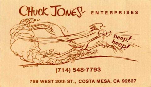 Hírességek névjegyei - Chuck Jones