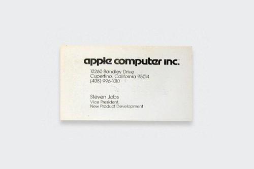 Hírességek névjegyei - Steve Jobs