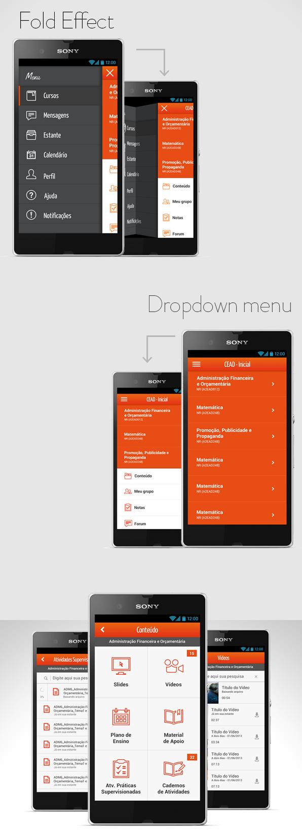 Minimál mobil felhasználói felület design - Anhanguera 2