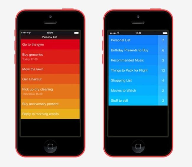 Minimál mobil felhasználói felület design - Clear