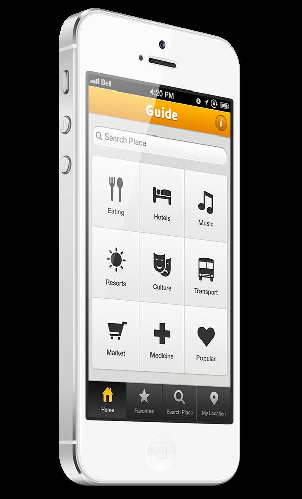 Minimál mobil felhasználói felület design - Guide 1