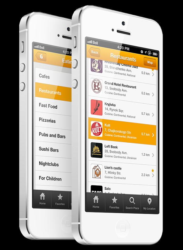 Minimál mobil felhasználói felület design - Guide 2