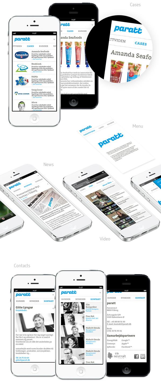 Minimál mobil felhasználói felület design - Paratt