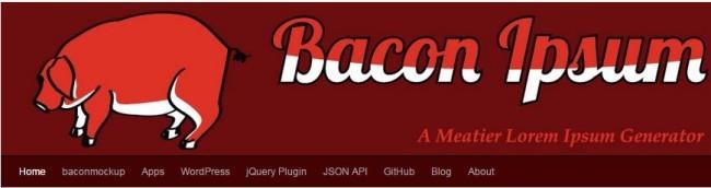bacon lorem ipsum