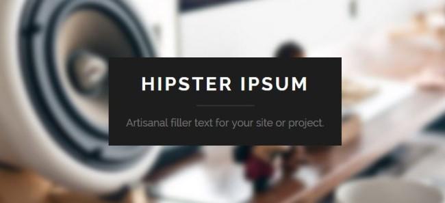 hipster lorem ipsum