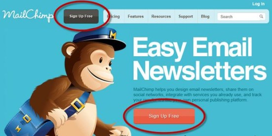 Call To Action mailchimp