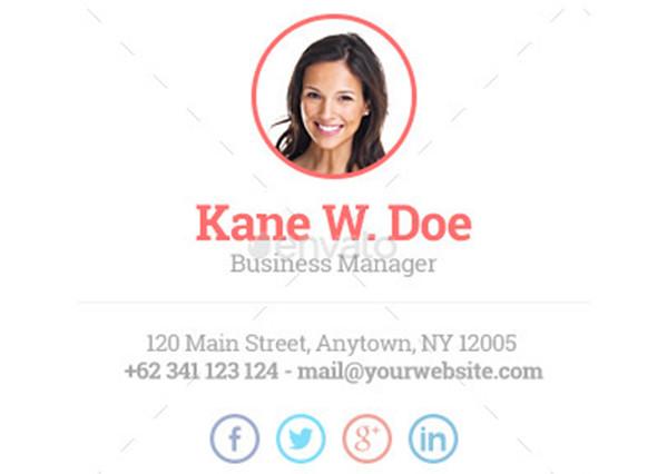 e-mail aláírás - Kane W. Doe