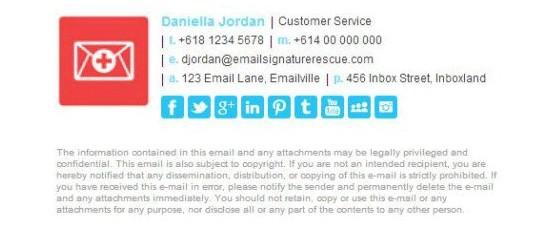 e-mail aláírás - daniella jordan