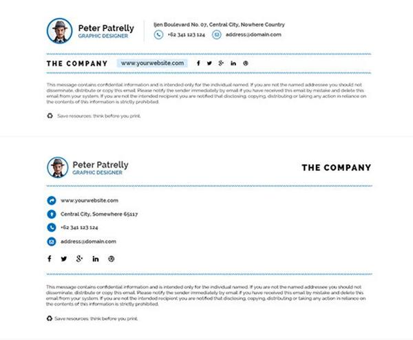 e-mail aláírás - térköz