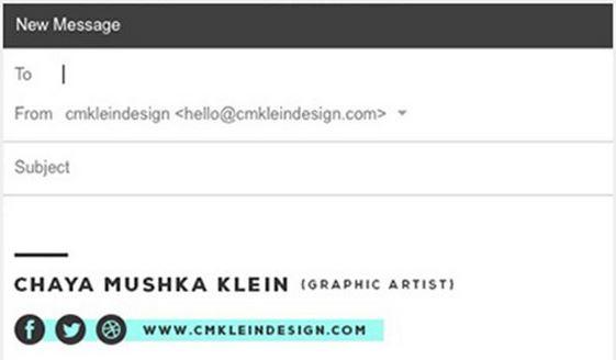 e-mail aláírás