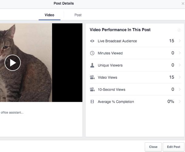 facebook live videó