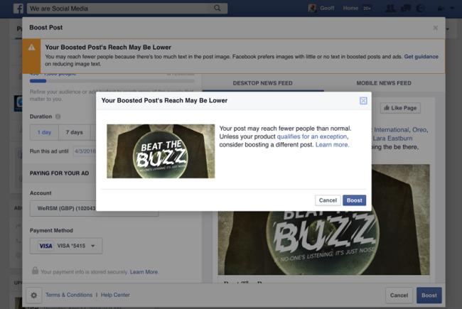 facebook hirdetési frissítés