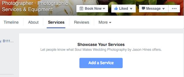 Szolgáltatások feltüntetése Facebookon
