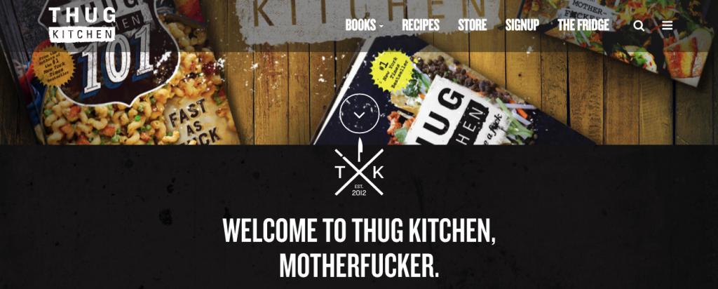 Thug Kitchen honlap.