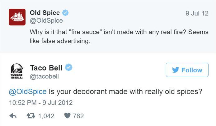 Old Spice VS Taco Bell - Twitter bejegyzés