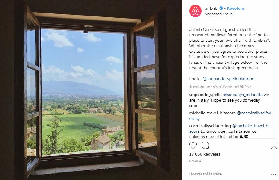 Airbnb Instagram fotó